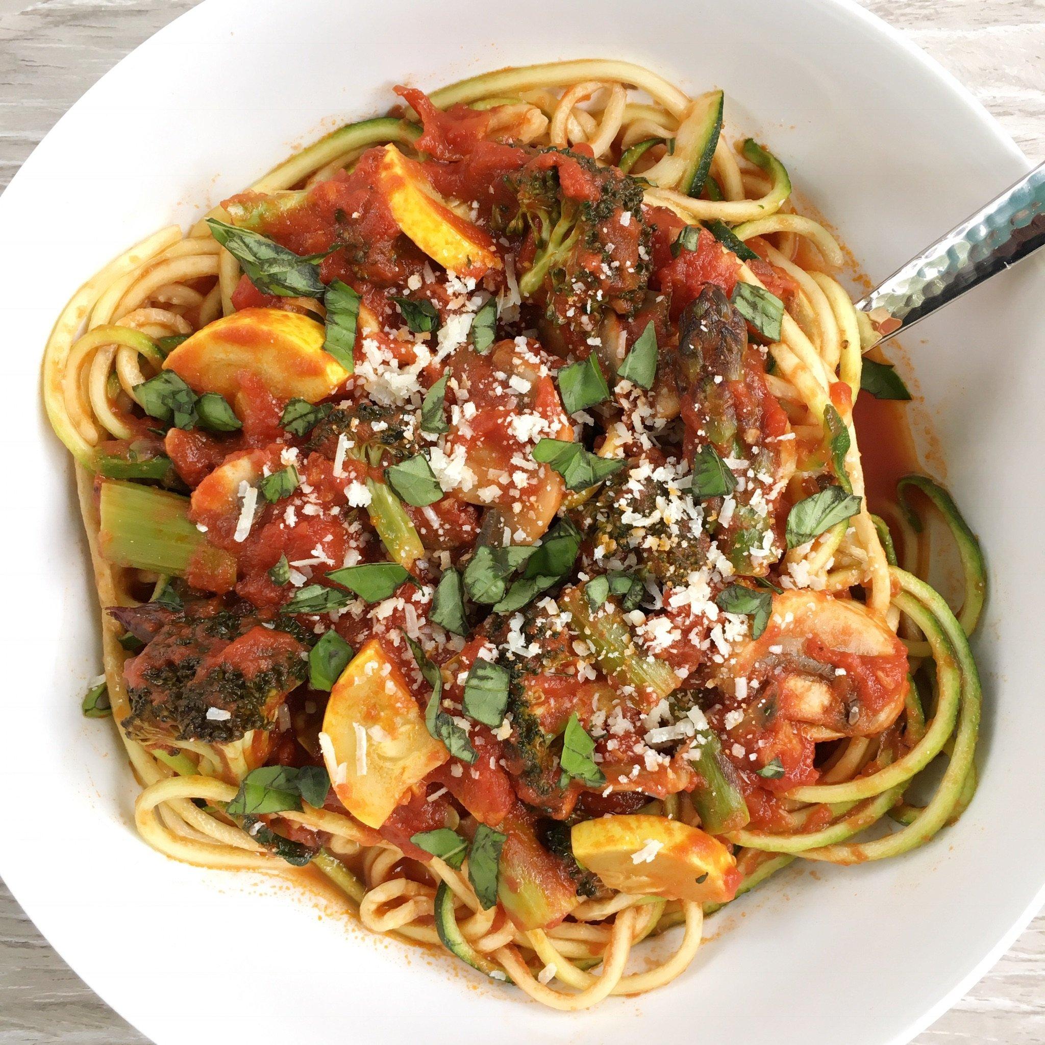 zucchini noodles primavera