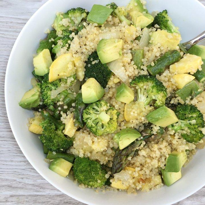 summer veggie quinoa bowl