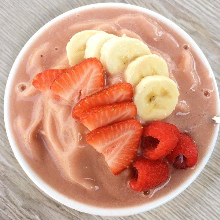 strawberry banana nice cream