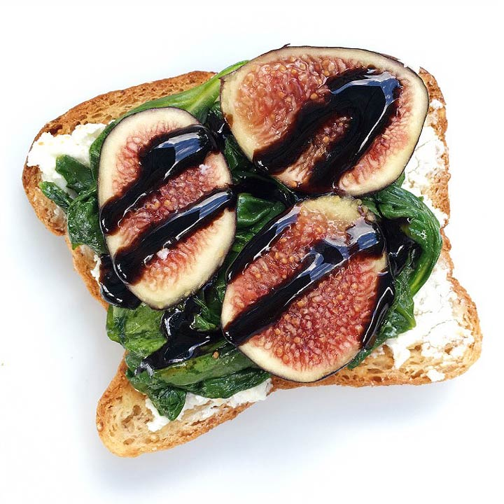 goat cheese and figs on toast