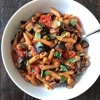 roasted veggie pasta