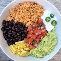 gluten free mexican rice buddha bowl #glutenfreerecipes www.healthygffamily.com