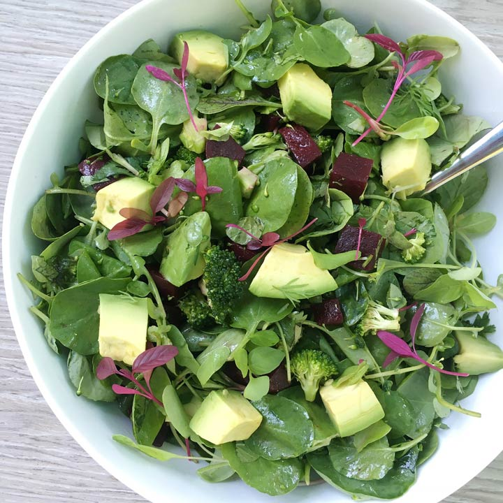 big green chopped salad