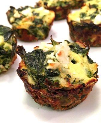spinach pie bites gluten free #glutenfreerecipes www.healthygffamily.com