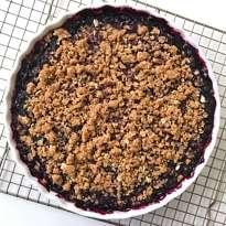 gluten free blueberry crumble #glutenfreefrecipes www.healthygffamily.com