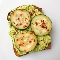 avo toast with pickles