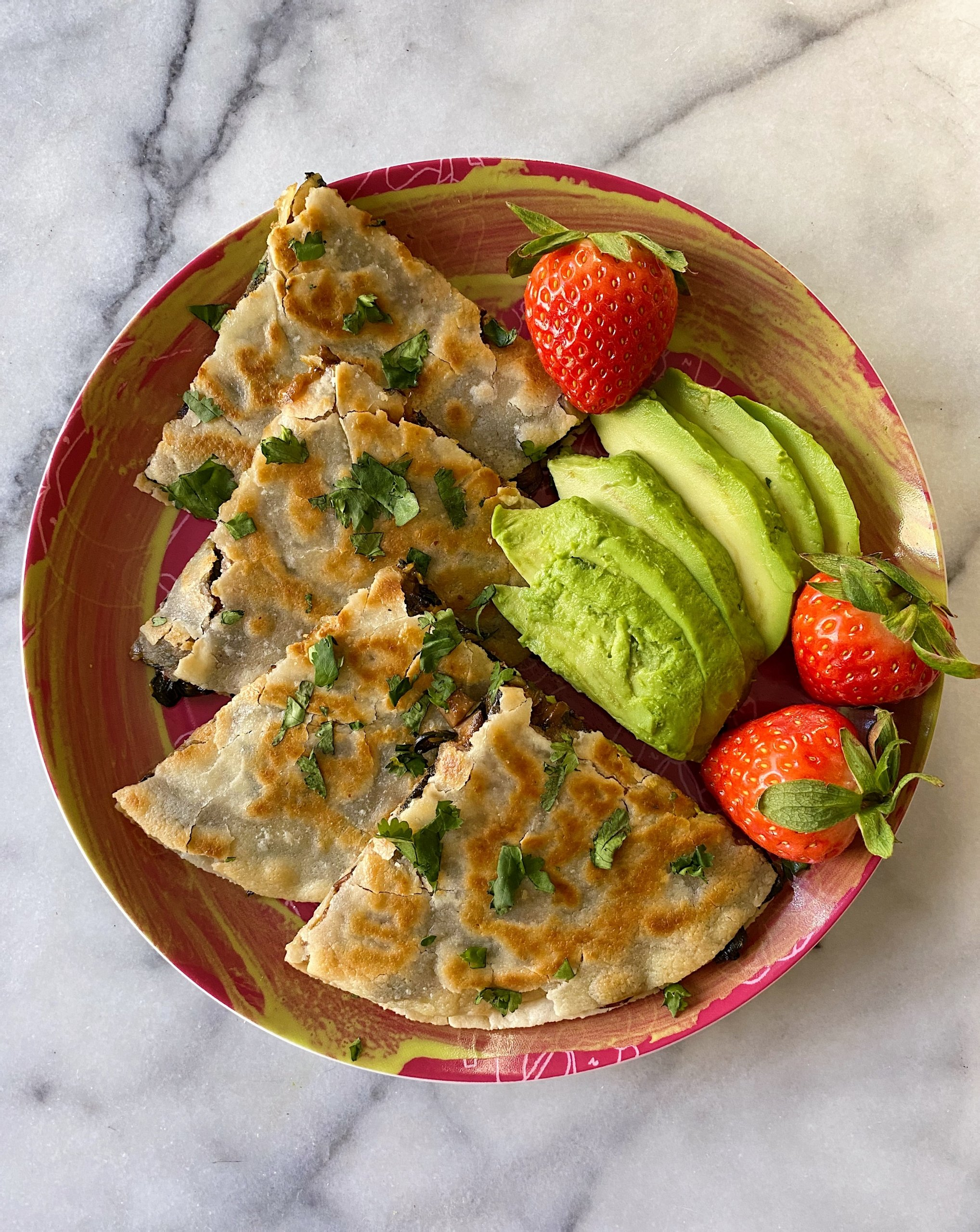 mushroom swiss chard quesadillas gluten free #glutenfreerecipes www.healthygffamily.com