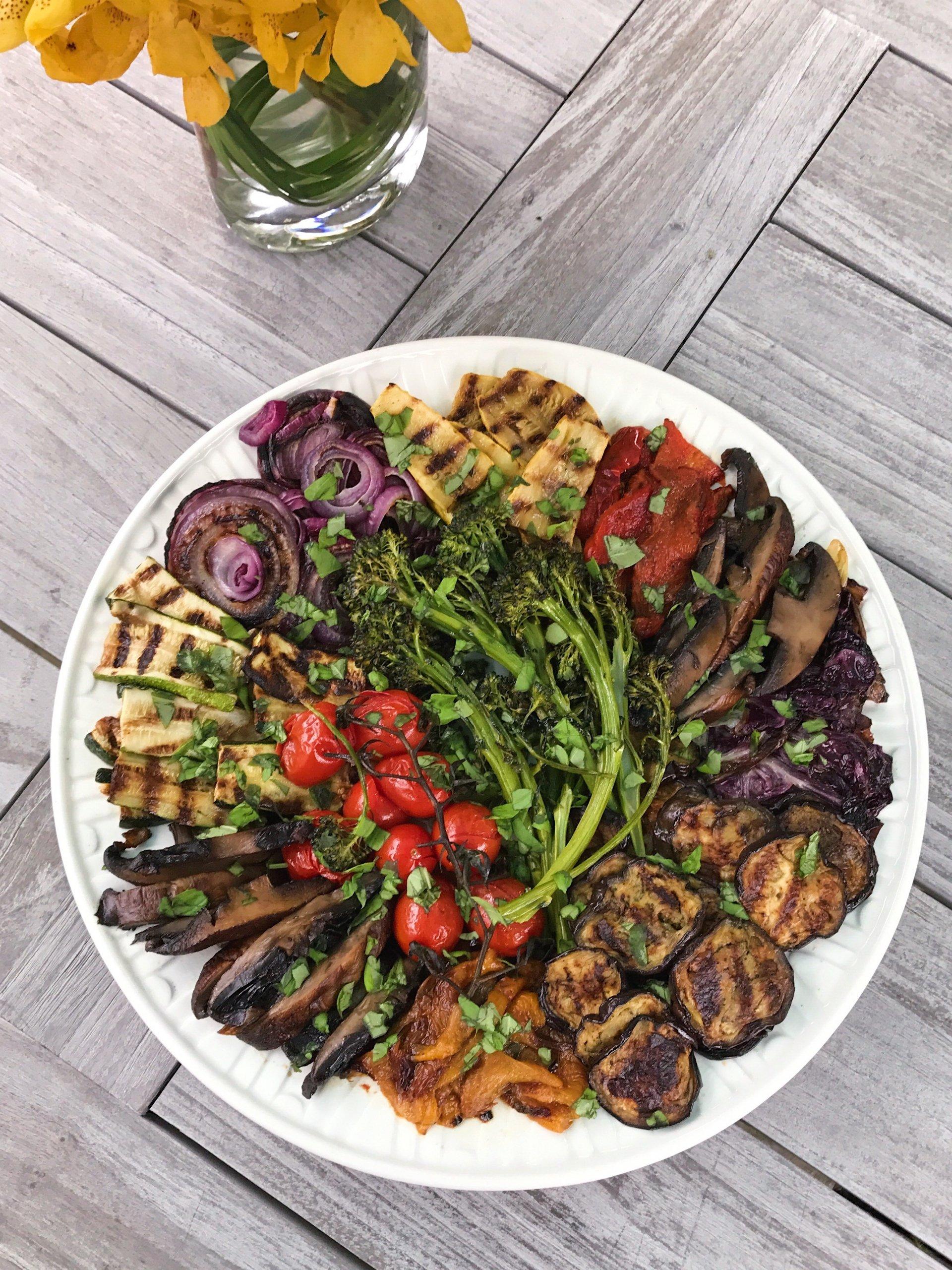 Grilled Veggie Platter gluten free #glutenfreerecipes www.healtthygffamily.com
