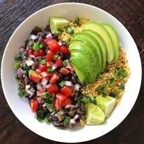 gluten-free cuban black beans and quinoa #glutenfree #glutenfreerecipes www.healthygffamily.com
