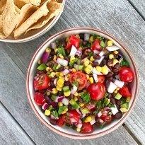 Black Bean Veggie Salsa gluten-free #glutenfreerecipes www.healthygffamily.com
