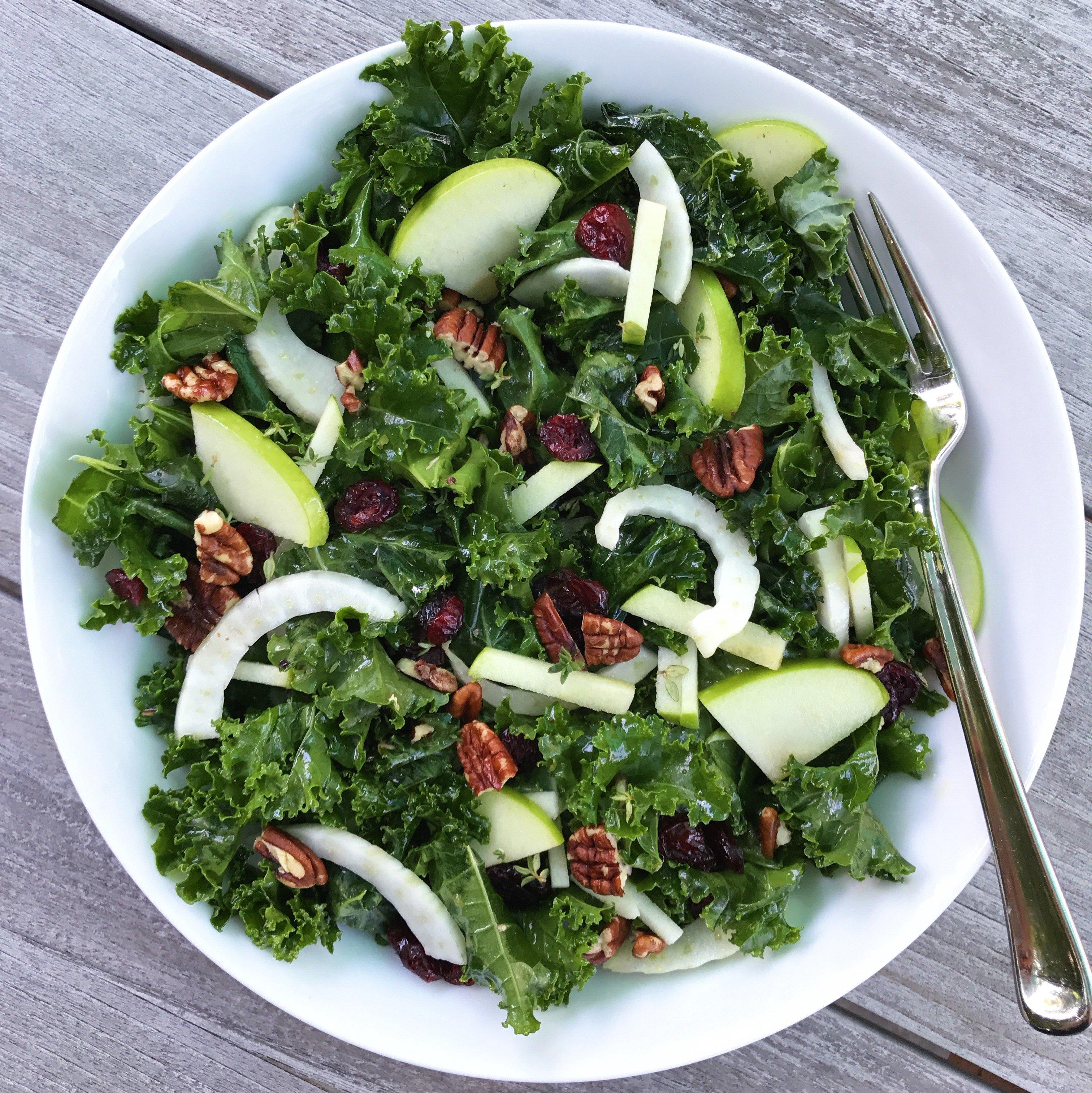 Fenway Farms Kale Salad gluten free #glutenfreerecipes www.healthygffamily.com