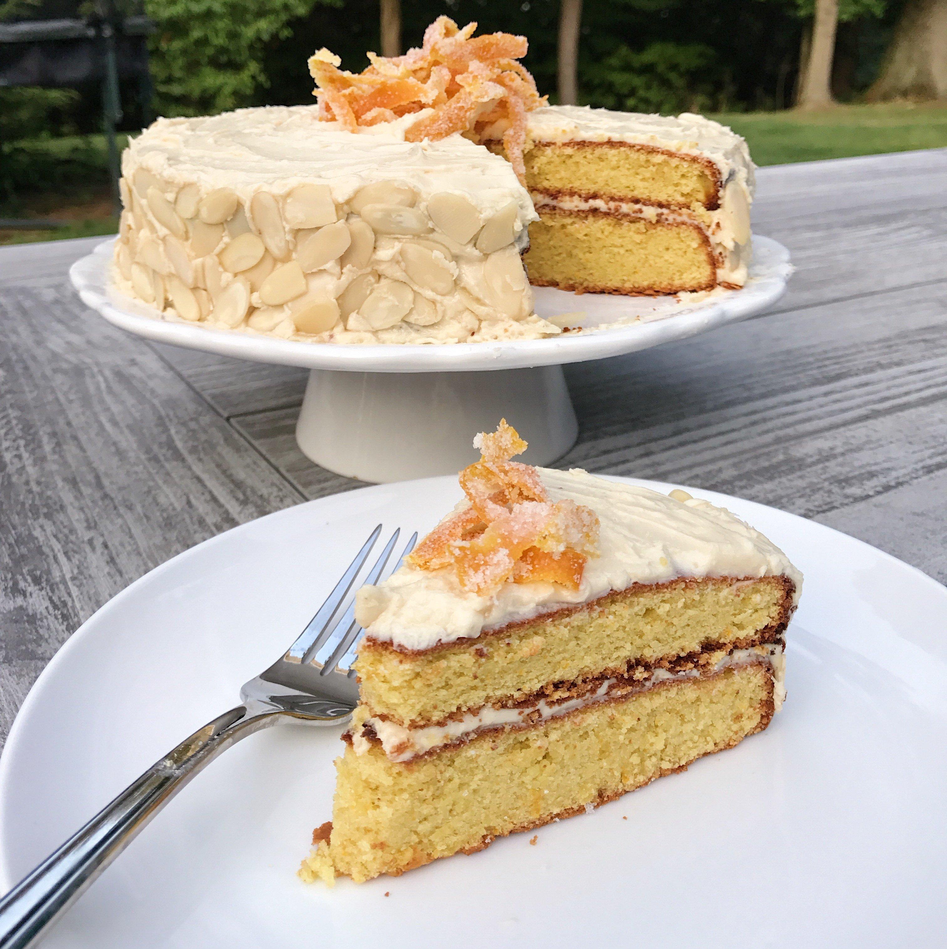 Almond Flour Orange Cake gluten-free www.healthygffamily.com