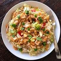 vegetarian pad thai gluten free #glutenfreerecipes www.healthygffamily.com
