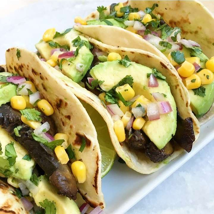 portobello avocado tacos