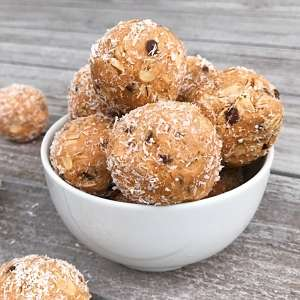 almond butter chocolate chip energy bite gluten free most made recipe #glutenfreerecipes www.healthygffamily.com