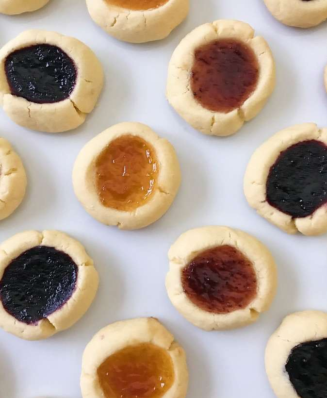 gluten free thumbprint cookies #glutenfreerecipes www.healthygffamily.com