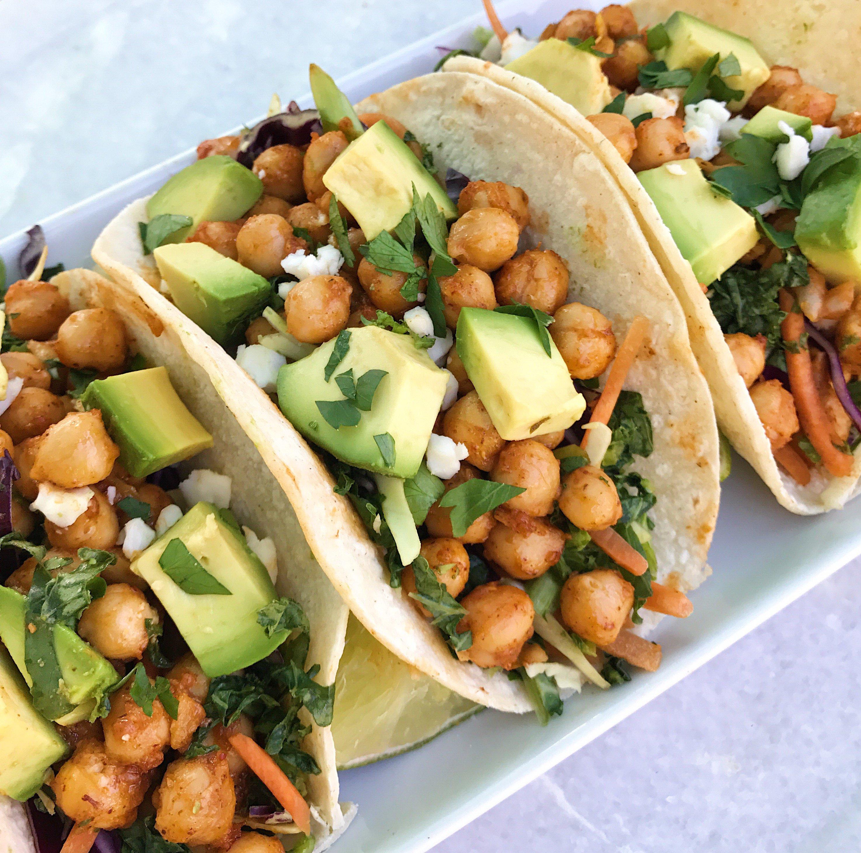 Spiced chickpea tacos gluten free www.healthygffamily.com