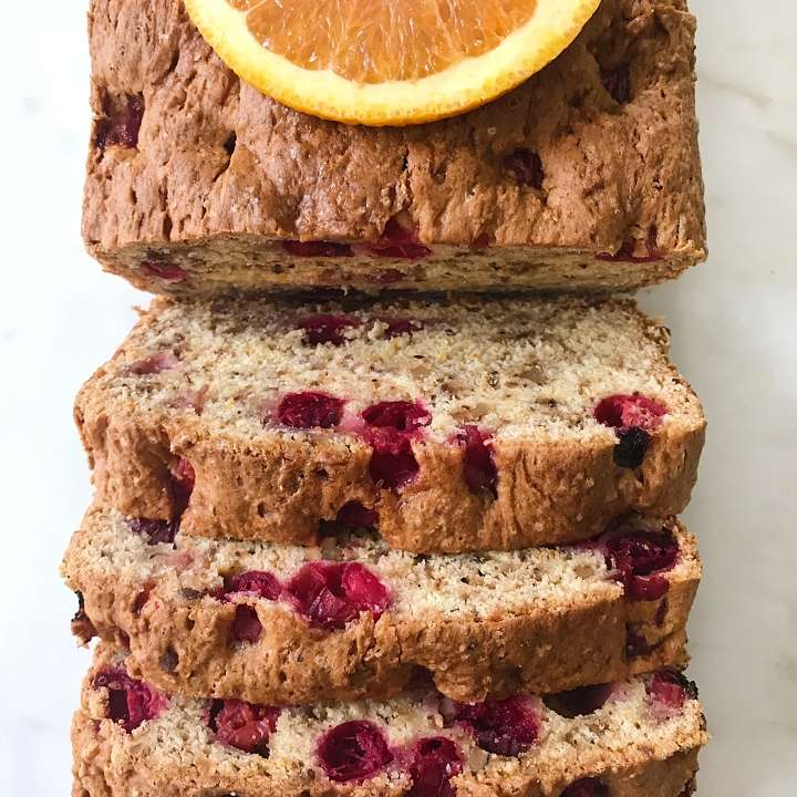 gluten free cranberry bread #glutenfreerecipes www.healthygffamily.com