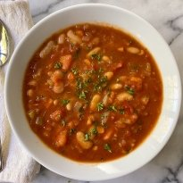Vegetable Bean Soup gluten free vegetarian #glutenfreerecipes www.healthygffamily.com