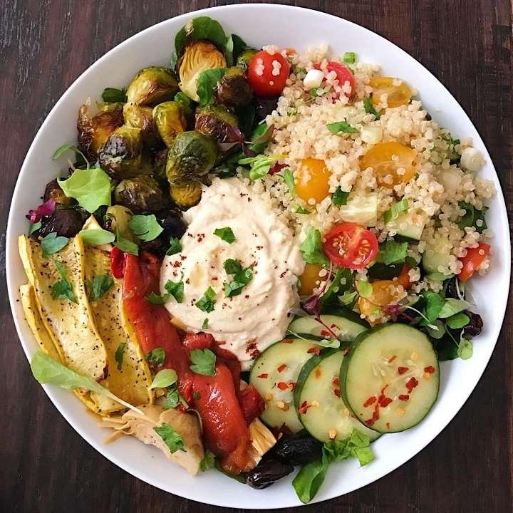 Mediterranean Chicken Quinoa Bowl Recipe: Mediterranean Mezze Bowl