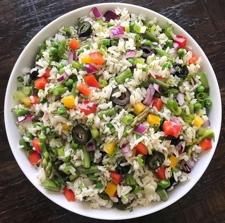 confetti Rice salad gluten free #glutenfreerecipes www.healthygffamily.com