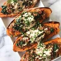 gluten free moroccan stuffed sweet potatoes #glutenfree #glutenfreerecipes www.healthygffamily.com