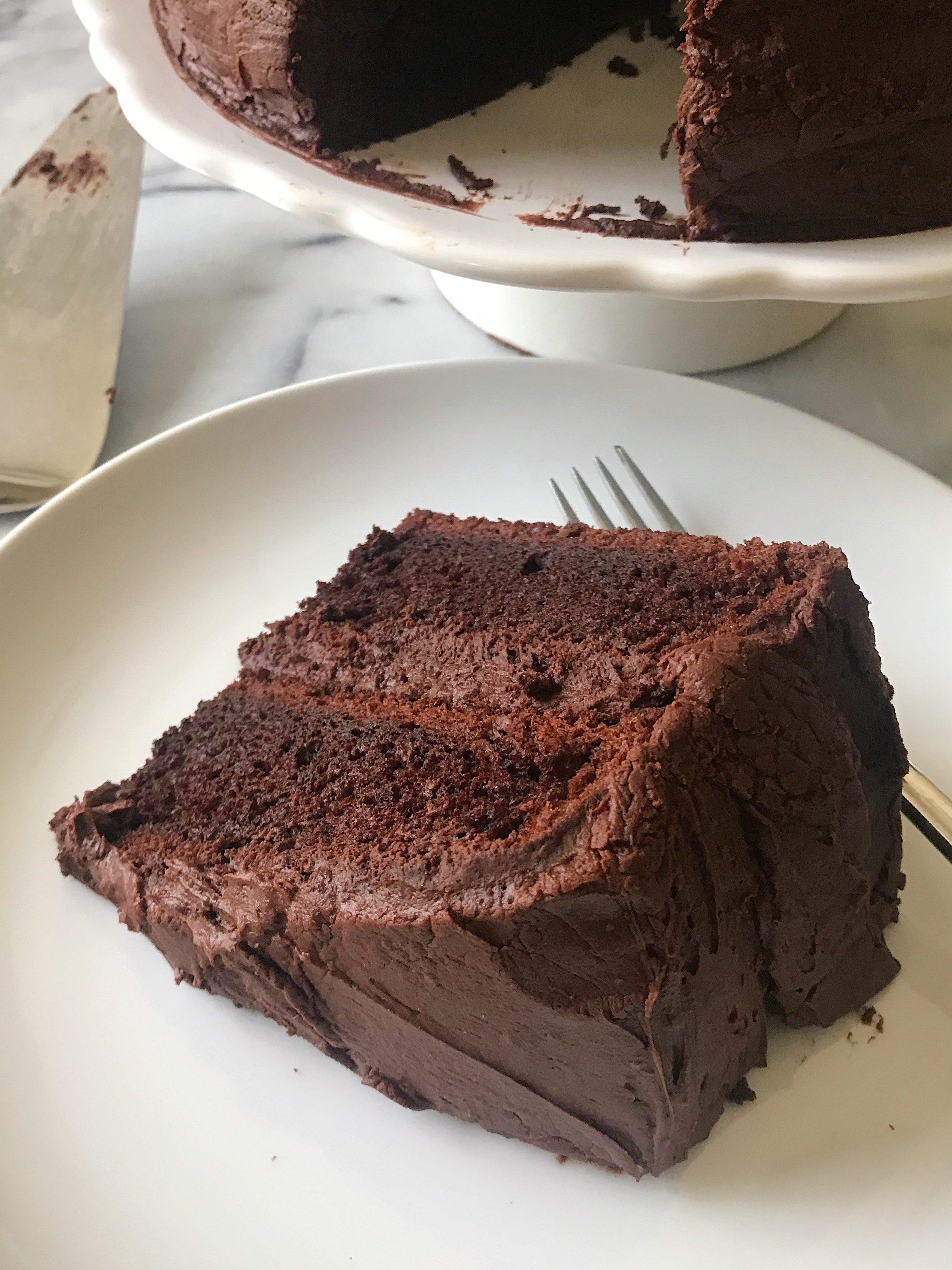 gluten free chocolate cake #glutenfree #glutenfreecake #glutenfreerecipes healthygffamily.com