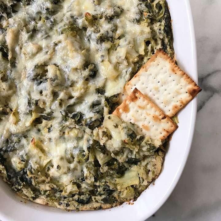 gluten free healthier spinach artichoke dip #glutenfree #glutenfreerecipes www.healthygffamily.com
