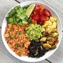Veggie Burrito Bowl with Mexican Rice #glutenFree #vegetarian #glutenfreerecipes #glutenfreemeals www.healthygffamily.com