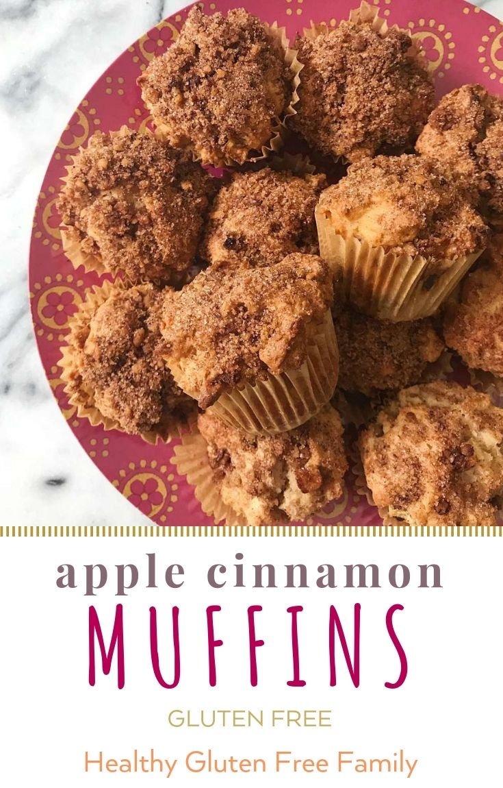 gluten free apple cinnamon muffins #glutenfree #glutenfreerecipes www.healthygffamily.com
