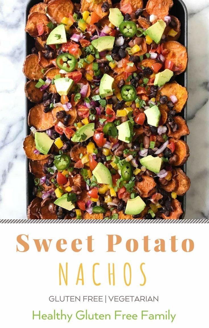 sweet potato nachos gluten free #glutenfreerecipes www.healthygffamily.com