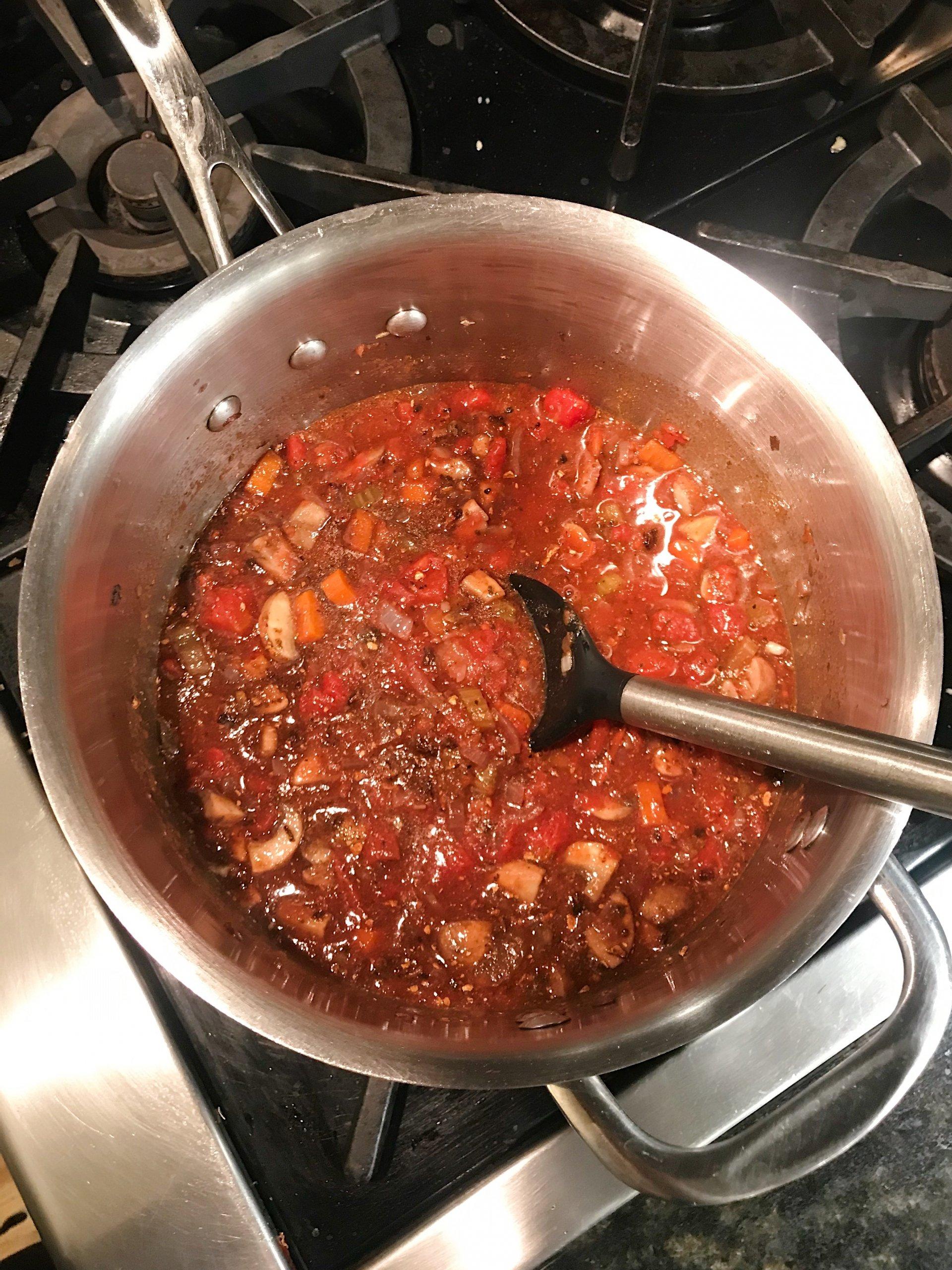 vegetarian bolognese gluten free #glutenfreerecipes www.healthygffamily.com