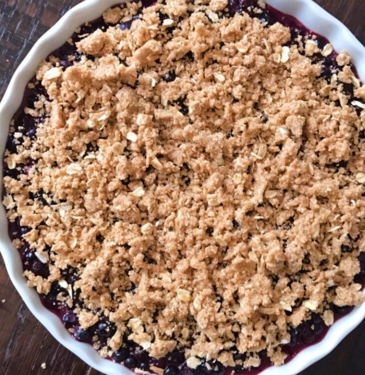 gluten free blueberry crumble #glutenfreerecipes www.healthygffamily.com
