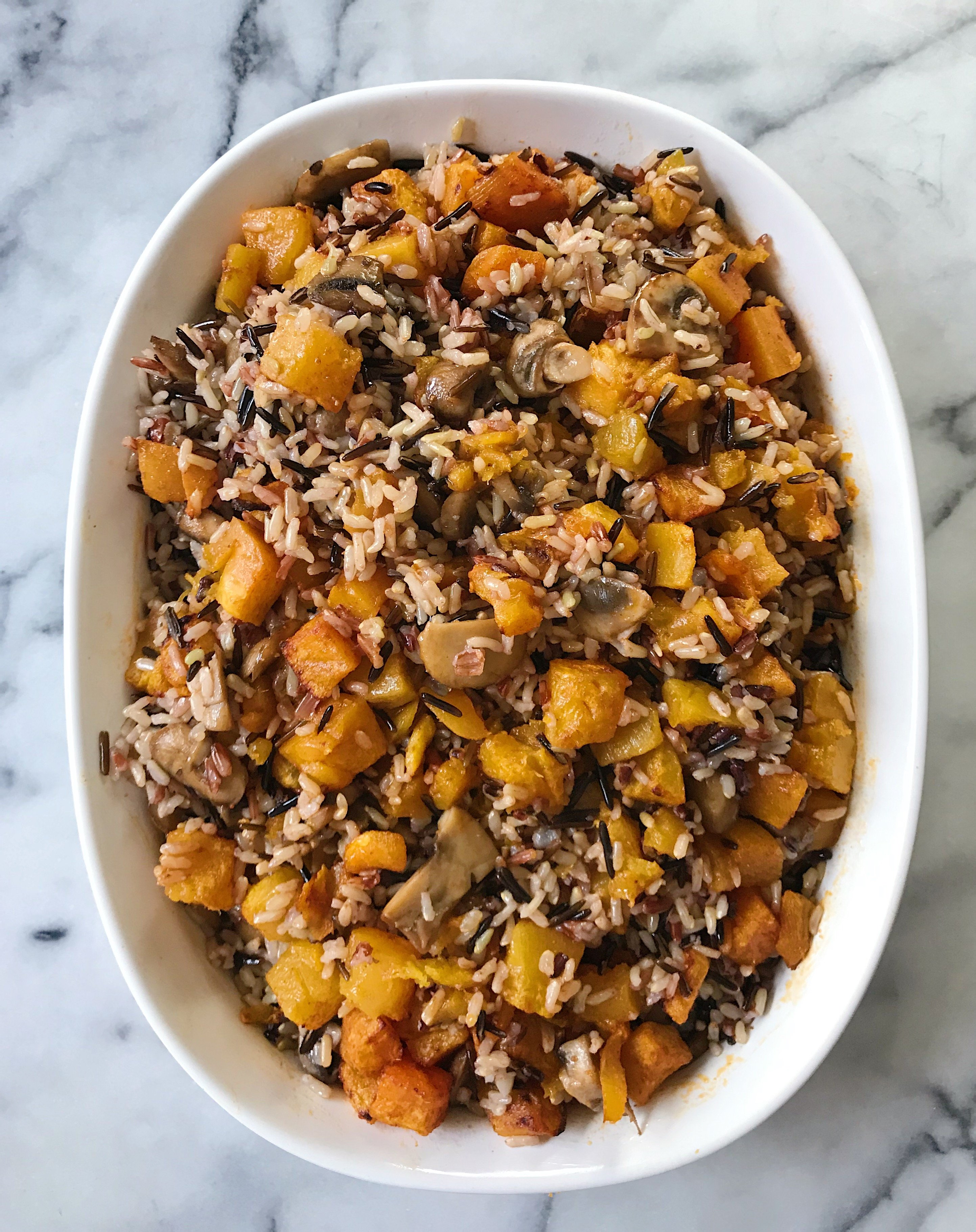 Baked Wild Rice with Veggies gluten free #glutenfreerecipes www.healthygffamily.com