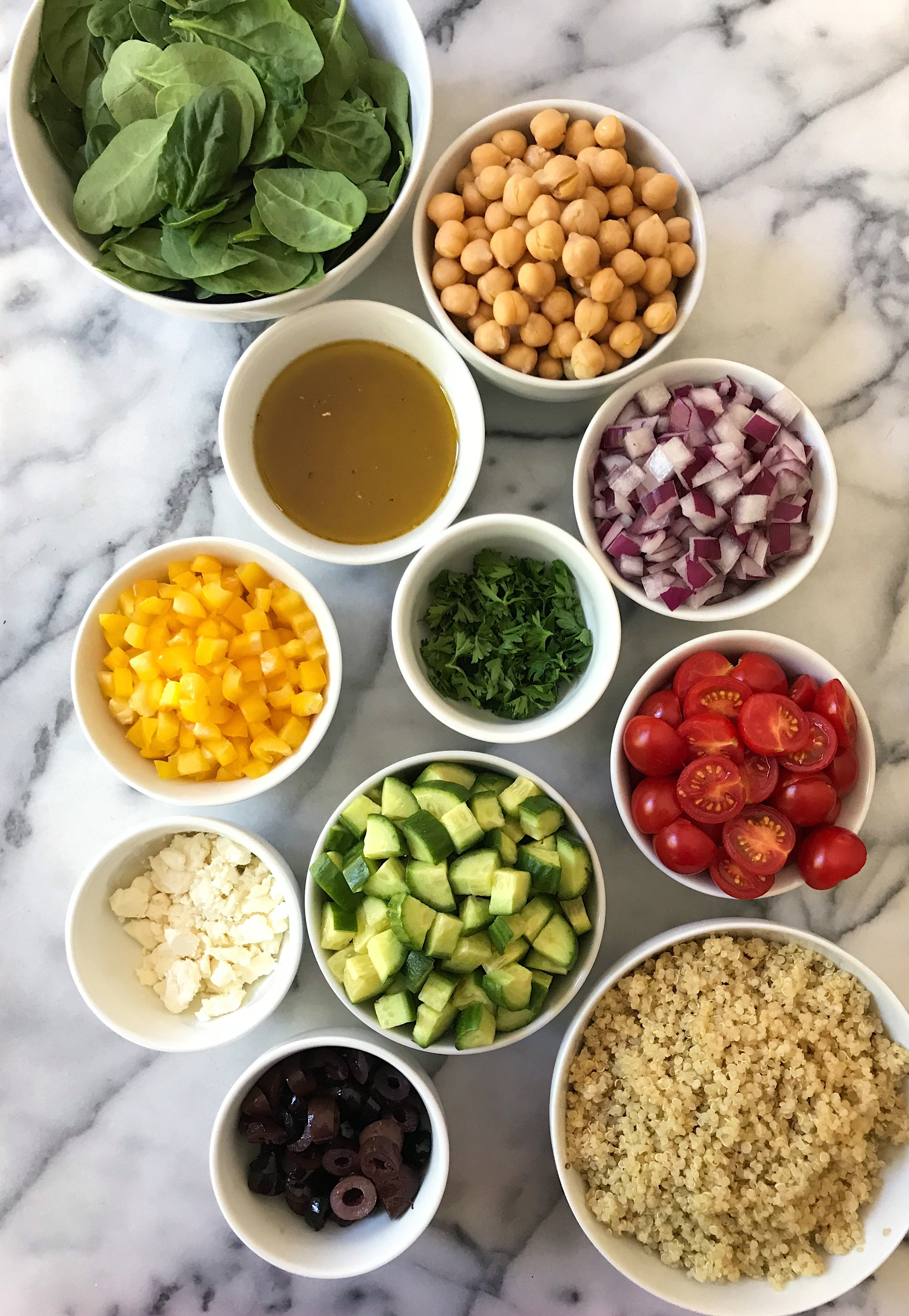 Greek Chickpea Salad #glutenfree #glutenfreerecipes www.healthygffamily.com