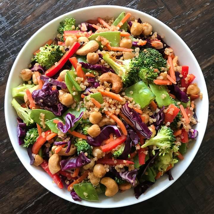gluten free asian chickpea salad #glutenfree #glutenfrecipes www.healthygffamily.com
