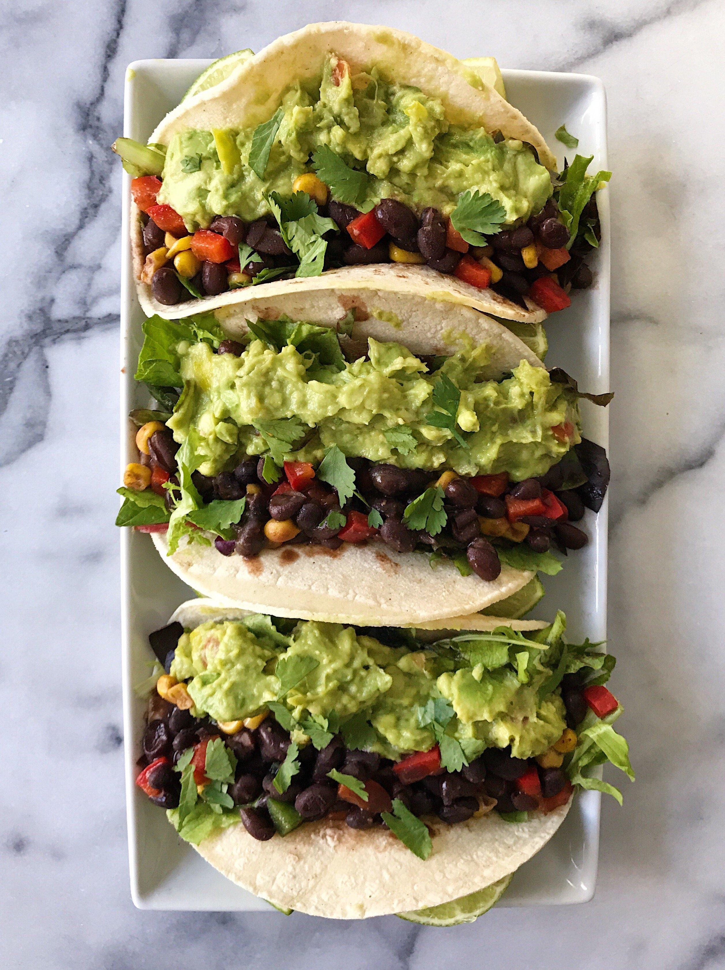 black bean tacos gluten free #glutenfreerecipes www.healthygffamily.com