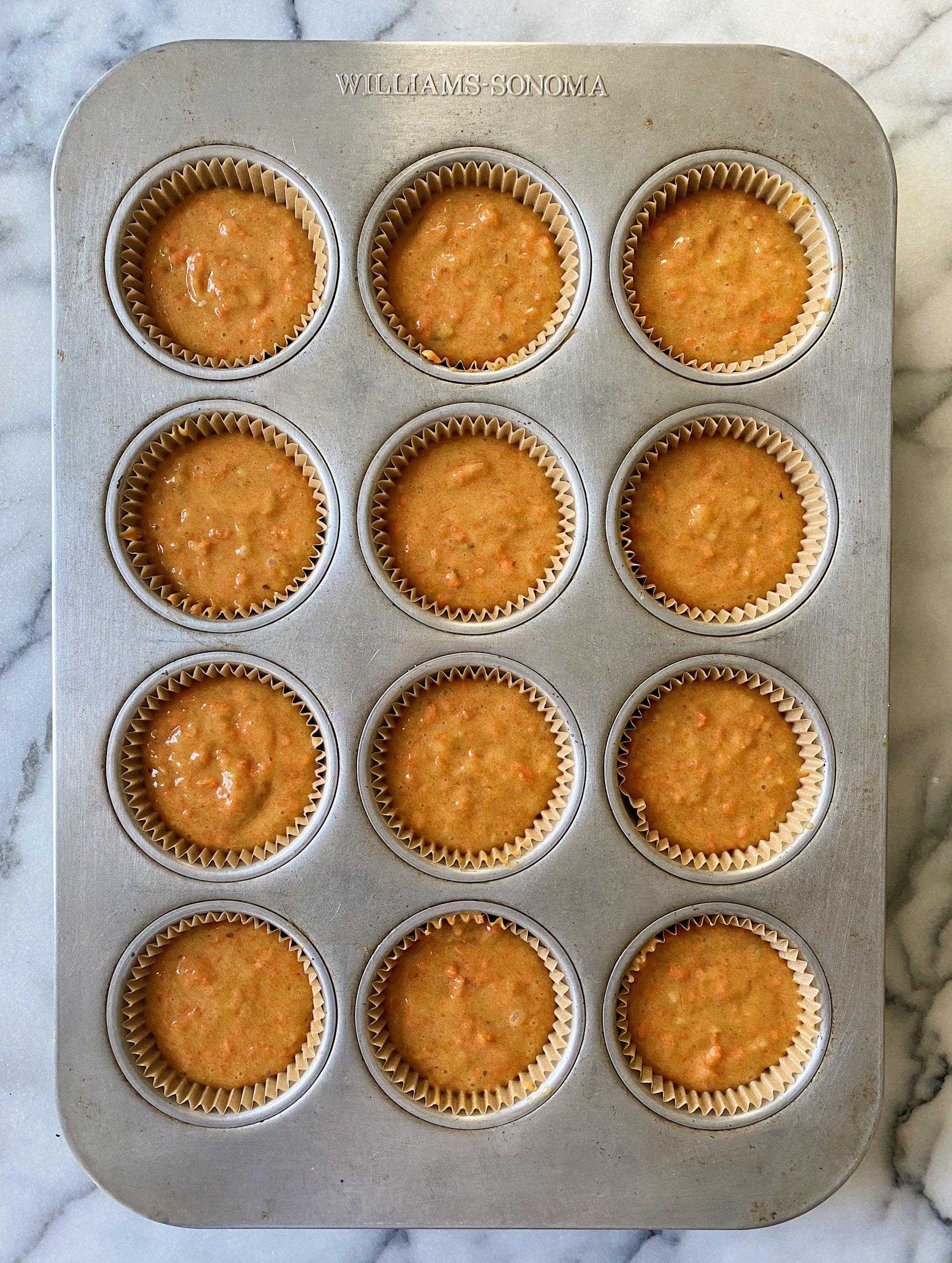 Gluten Free carrot cake cupcakes #glutenfreerecipes www.healthygffamily.com