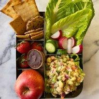 chickpea salad lunchbox ideas lunch gluten free #glutefreerecipes www.healthygffamily.com