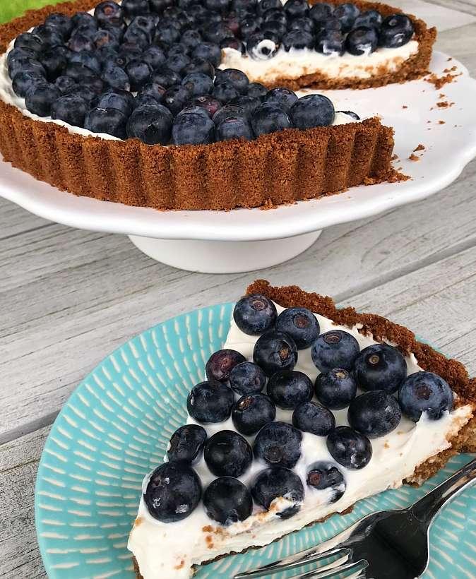 Gluten-Free Blueberry Tart #glutenfreerercipes www.healthygffamily.com