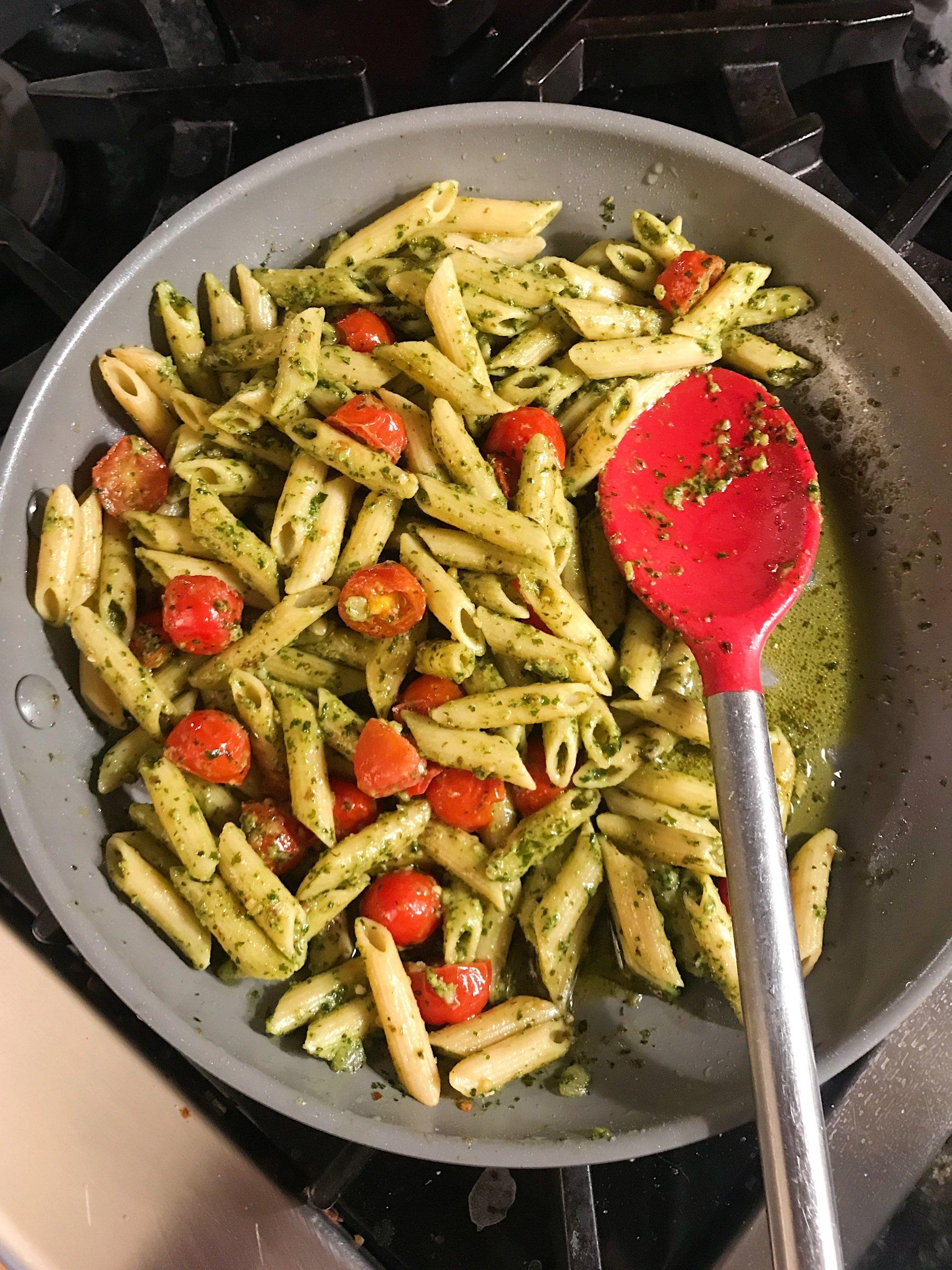 pesto penne gluten free most made recipes #glutenfreerecipes www.healthygffamily.com