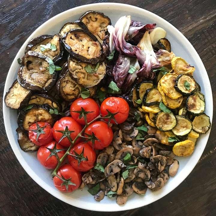 Roasted Vegetables veggies gluten free #glutenfreerecipes www.healthygffamily.com