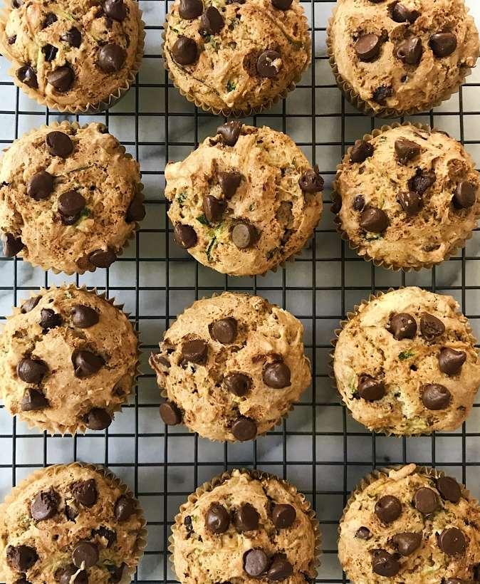 gluten free chocolate chip zucchini muffins #glutenfree #glutenfreerecipes www.healthygffamily.com