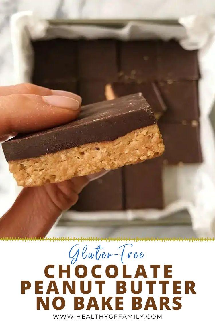 No Bake gluten free chocolate peanut butter www.healthygffamily.com