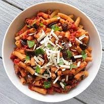 gluten-free pasta alla norma #glutenfree #glutenfreerecipes #glutenfreepasta www.healthygffamily.com