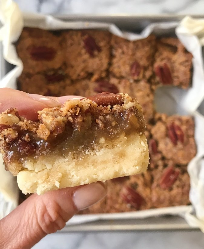gluten free pecan bars #glutenfree #glutenfreerecipees www.healthygffamily.com