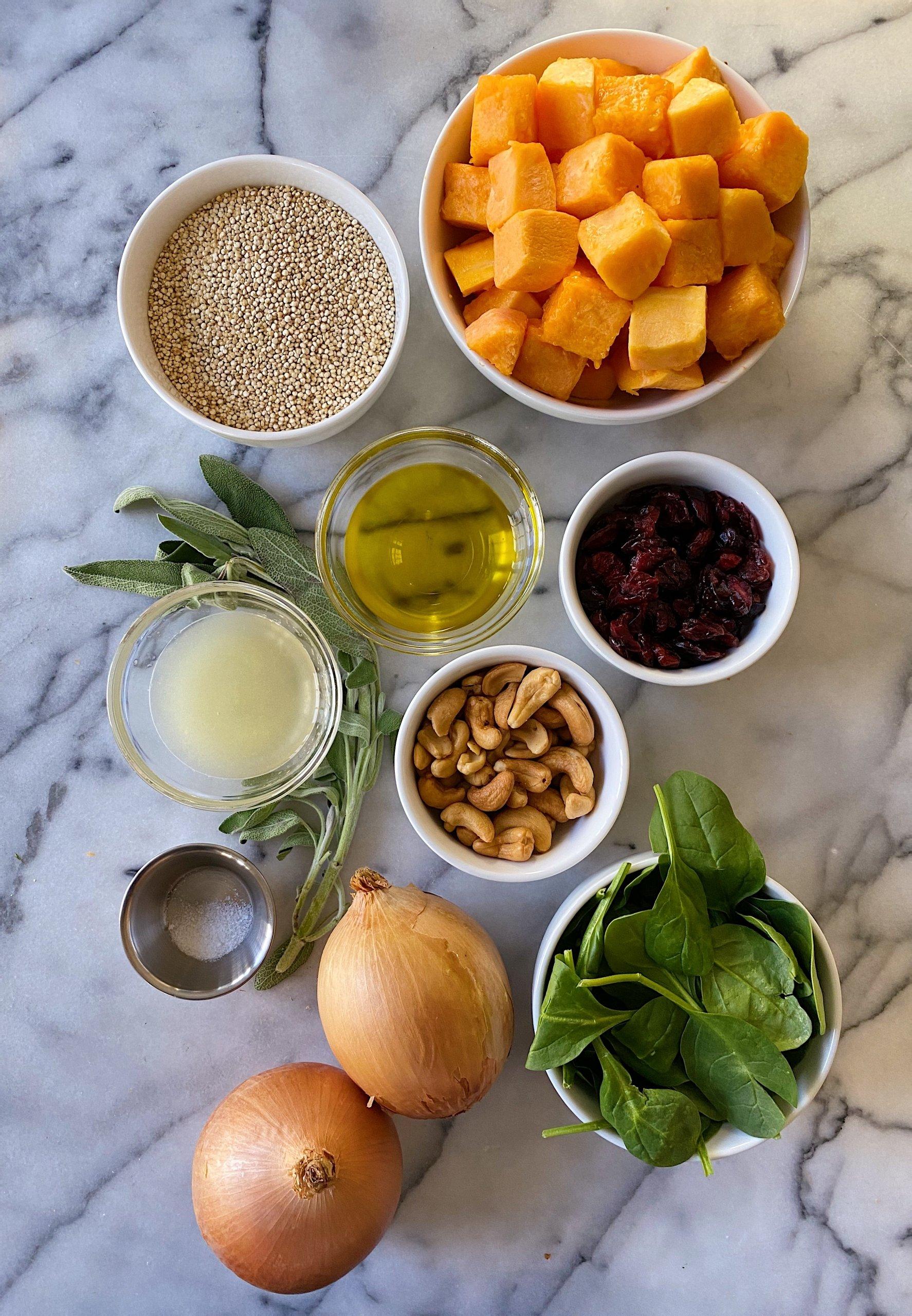 roasted squash winter quinoa salad gluten free #glutenfreerecipes www.healthygffamily.com
