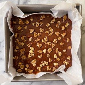 Chocolate walnut brownies gluten free #glutenfreerecipes www.healthygffamily.com