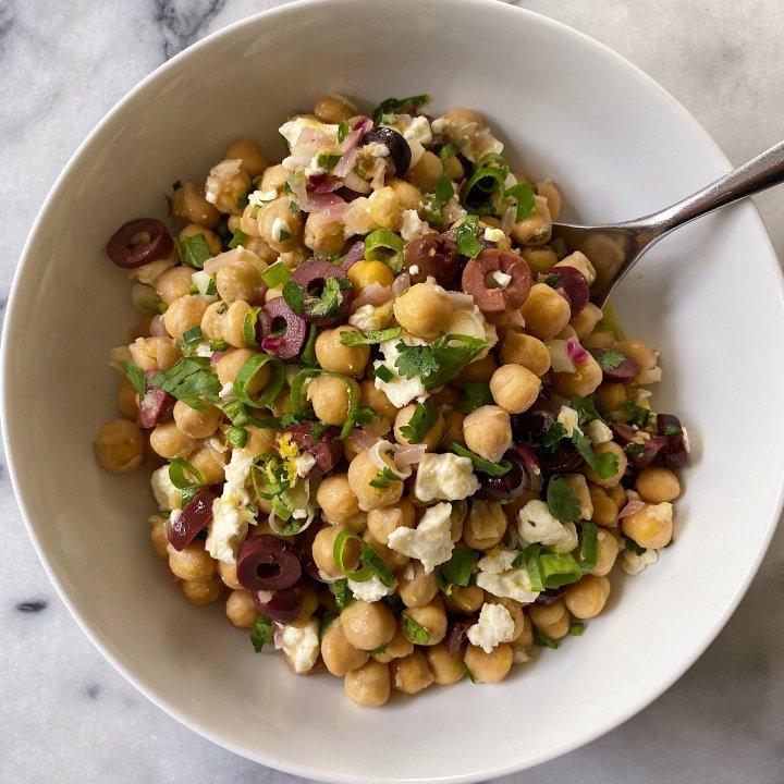 Chickpea Salad Feta Gluten Free #glutenfreerecipes www.healthygffamily.com