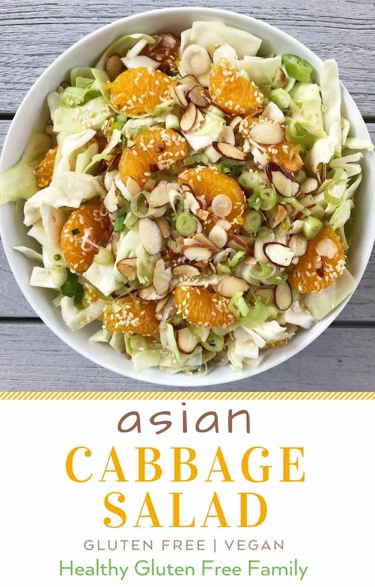 Asian Cabbage Salad Summer gluten free #glutenfreerecipes www.healthygffamily.com